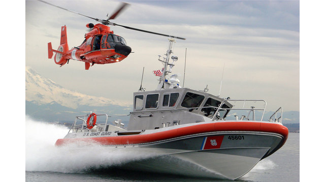 Coast Guard rescues 10 from raft taking on water in Bellingham Bay