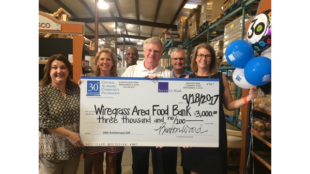 Central Alabama Community Foundation Awards Surprise Grant to Wiregrass Area Food Bank