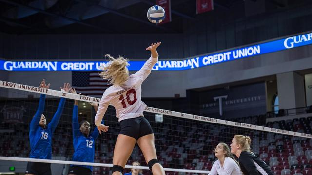 Troy Volleyball Set for Season Finales on Senior Weekend