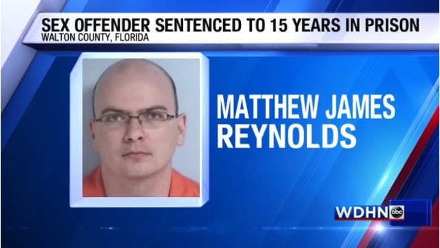 Florida Sex Offender Sentenced to 15 years in prison