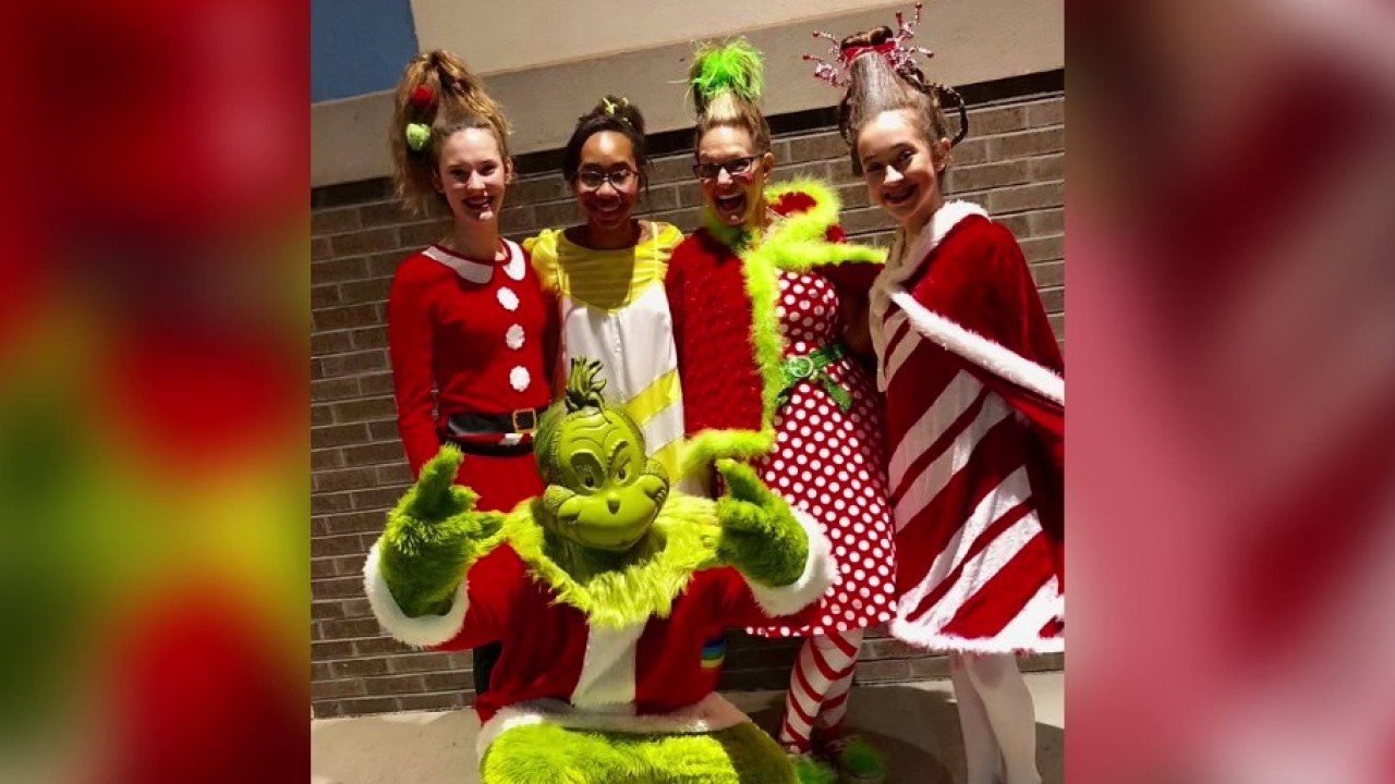 whoville characters around enterprise promote upcoming christmas
